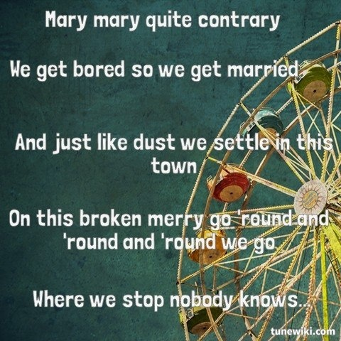 Country song merry go round lyrics