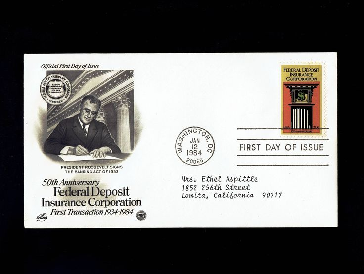 US 2071 Federal Deposit Insurance Corporation Jan 12, 1984 Washington D.C.  First Day Cover lot #F2071-1 by VicsStamps on Etsy