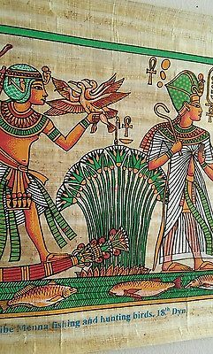 Egyptian painting papyrus The scribe fishing and hunting birds,18th Dyn16'' x 11