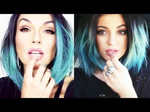 """Kylie Jenner Makeup Tutorial: Although this girl does the whole transformation, the Kylie Jenner makeup look she does is so pretty and great for everyday makeup! AND how to achieve that very sought after """"kylie jenner lip color"""", which is a very 90's plum-rose-brown, that she'll show you how to get!"""