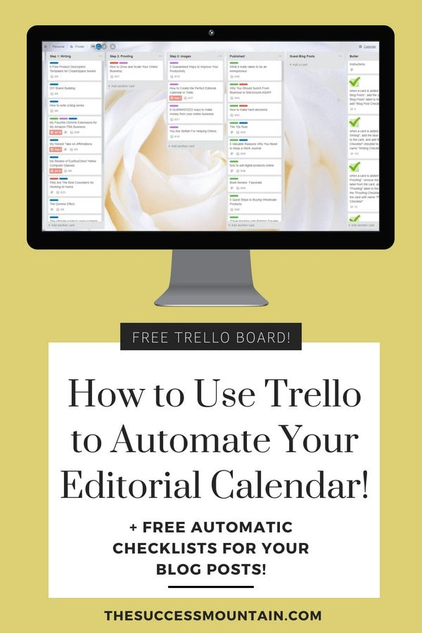 How To Create The Perfect Editorial Calendar In Trello Free