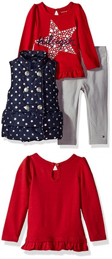 61dac607 Tommy Hilfiger Baby Girls' 3 Pc Jacket Set | Baby Niece ❤