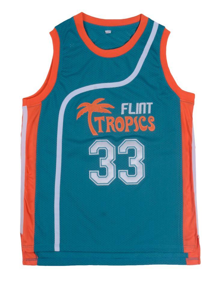 ジャッキー·ムーンフリント熱帯先祖返りジャージ33 #レトロバスケットボールムービージャージークールシャツステッチジャージー男白緑