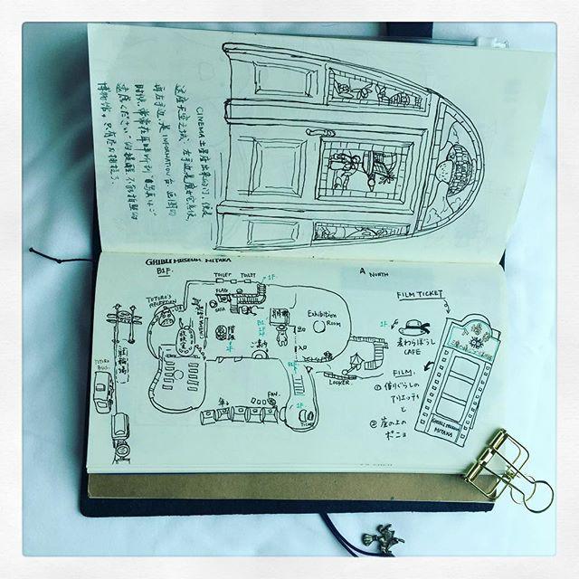 #ghiblimuseum #手帳 #travelersnotebook #artjournal #illustration #travelersnotebook #techo #draw #sketch #三鷹 #三鷹の森 #三鷹の森ジブリ美術館
