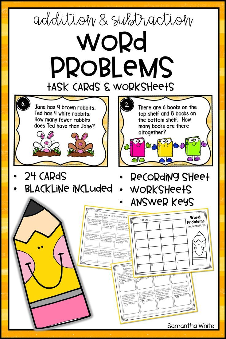 Addition And Subtraction Word Problems Can Be Tough For Students To Master This Set Includes Subtraction Word Problems Word Problems Task Cards Word Problems Addition and subtraction word problem