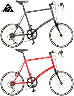 K2 ASTRAL 1.0 K2 Astral 20 inch bike road bike cross minibero small car small cars handle & Shimano made 7-K-207 red grey MINI VELO bullhorn lever
