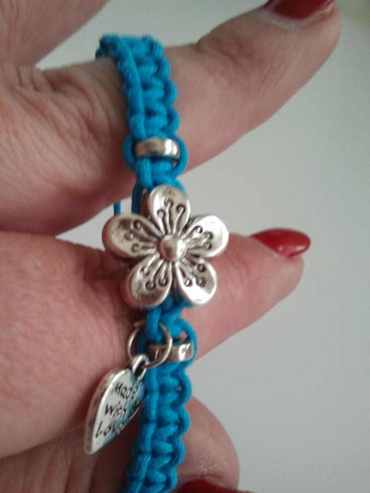 Turquoise armbandje