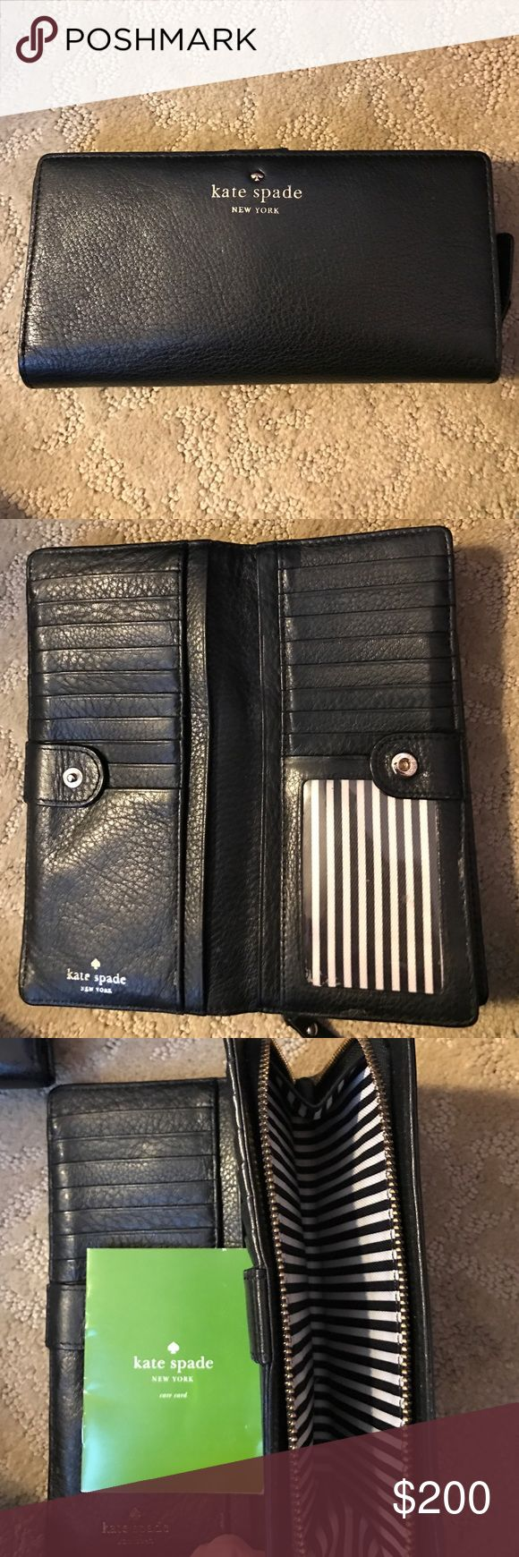 NWT KATE SPADE MARY JANE GOLD COAST WALLET Excellent condition Authentic Kate Spade  ♠️ wallet. Has 18 credit card slots three Bill compartments and zipper change purse. kate spade Bags Wallets