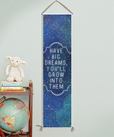 'Have Big Dreams' Canvas Growth Chart by Gus & Lula