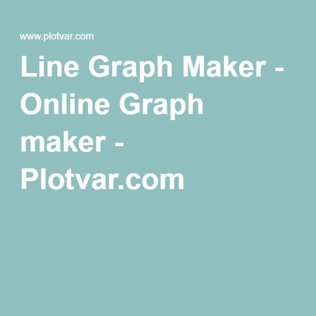 Line Graph Maker - Online Graph maker - Plotvar.com