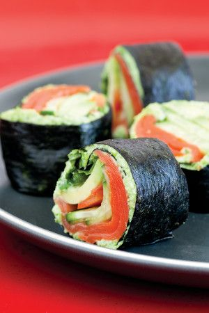 Salmon/Avocado rolls - Sushi rolls without the rice!