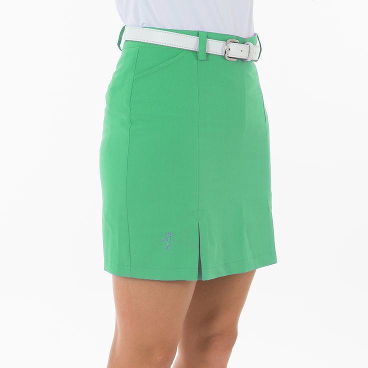 #Falda de golf.Fabricada en tejido Heat Swing. Short interior elástico 2 bolsillos delanteros y traseros Logotipo Polo Swing bordado Tallas: 36, 38, 40, 42, 44, 46.