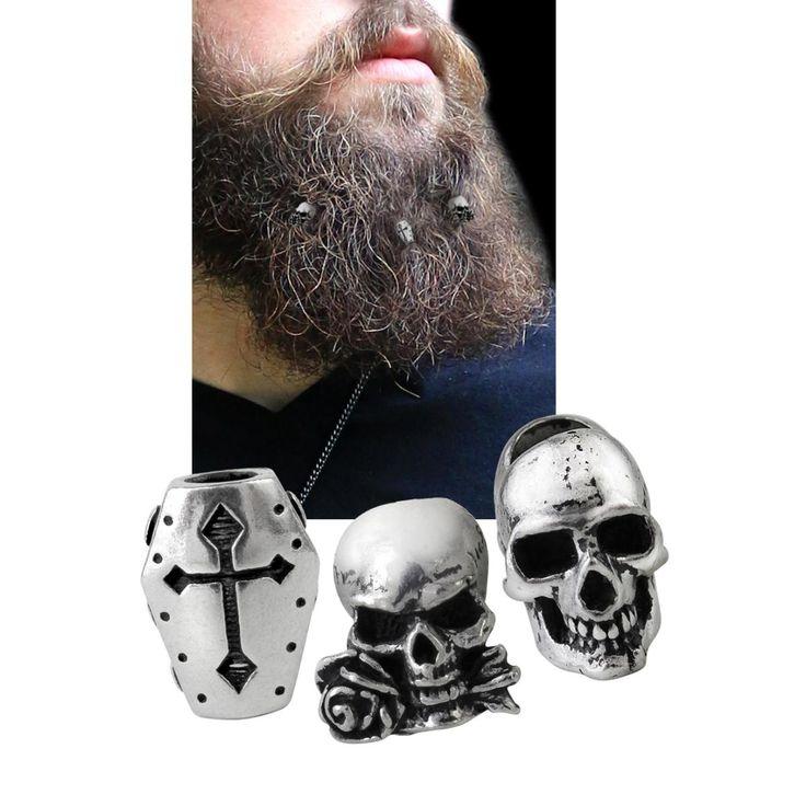 Janus/Coffin/Alchemist von Alchemy Gothic:  - Set mit 3 verschiedenen Bartperlen - einfach kleine Haargummis ins Haar binden und die Perlen darüber ziehen - Innendurchmesser 0,5 cm - Länge 1,7 cm - Breite 1,2 cm - als Bartperlen oder Haarperlen verwendbar - aus Hartzinn  Nachdem du so viel Zeit in deinen Bart investiert hast, solltest du ihn auch bestmöglich schmücken. Mit dem Haarschmuck Janus / Coffin / Alchemist stecken dir die Herrschaften von Alchemy Gothic drei verschiedene Perlen in…