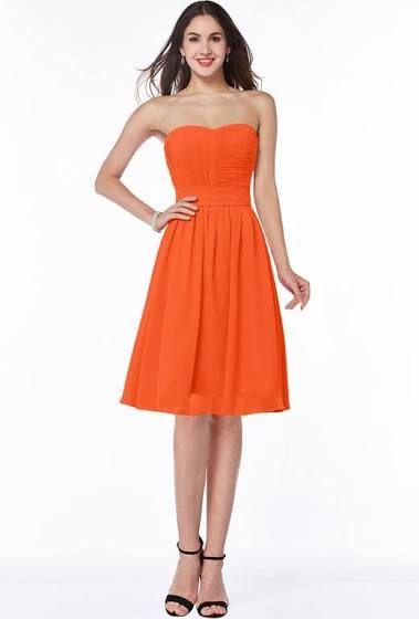 tangerine bridesmaid dresses - Google Search