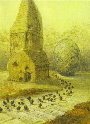 Peinture par Otto Frello artiste danois
