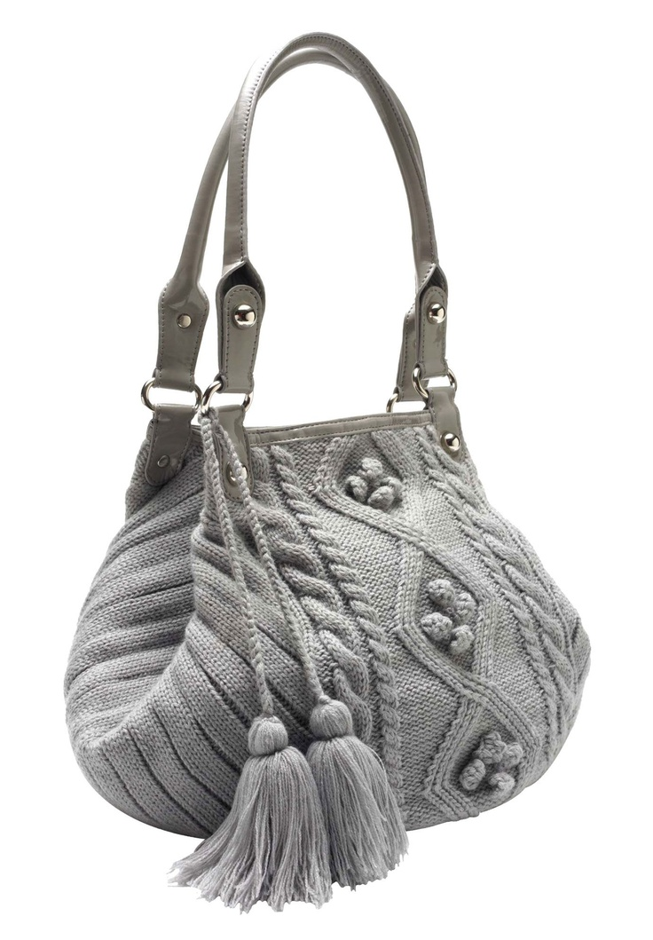 I love this idea… a Cable knit pattern on a purse! Via OneStopPlus. #fashion #purse #knit