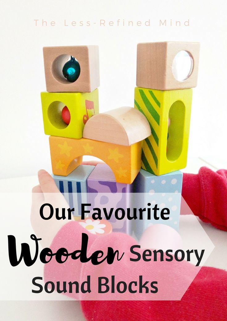 We absolutely love these lovely wooden blocks - perfect for #sensoryplay with #baby or for #toddlers to #build with. #sensory *affiliate link