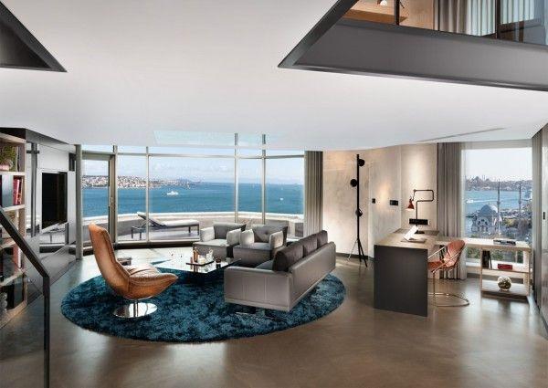 NEW YORKER LOFT SUITEN FÜR DEN BOSPORUS 25 Jahre ist eigentlich noch kein Alter, für ein Hotel sehr wohl. Das Swissôtel The Bosphorus in Istanbul hat daher zum Jubiläum sieben Loft Suiten, eine neue Lobby und noch ein paar neue Zimmer bekommen. Und wie es sich für fünfsternige Lofts gehört, mit einem Megaausblick über die Meerenge.