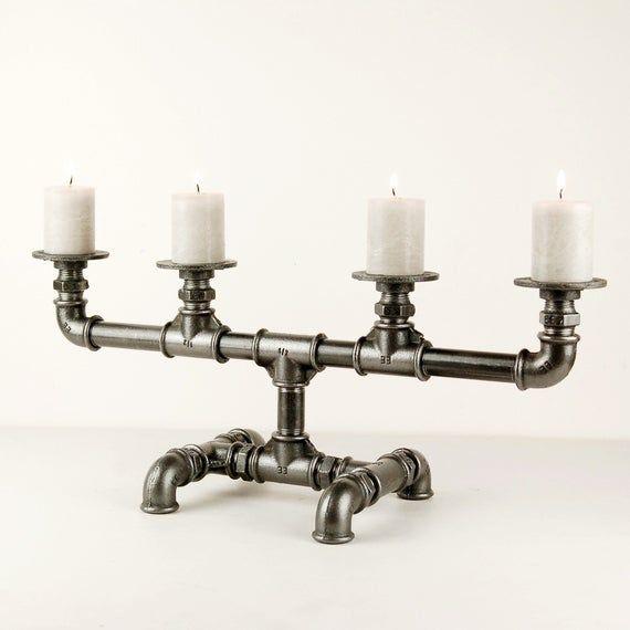 Candlestick Chandelier Industrial Spirit In Cast Iron