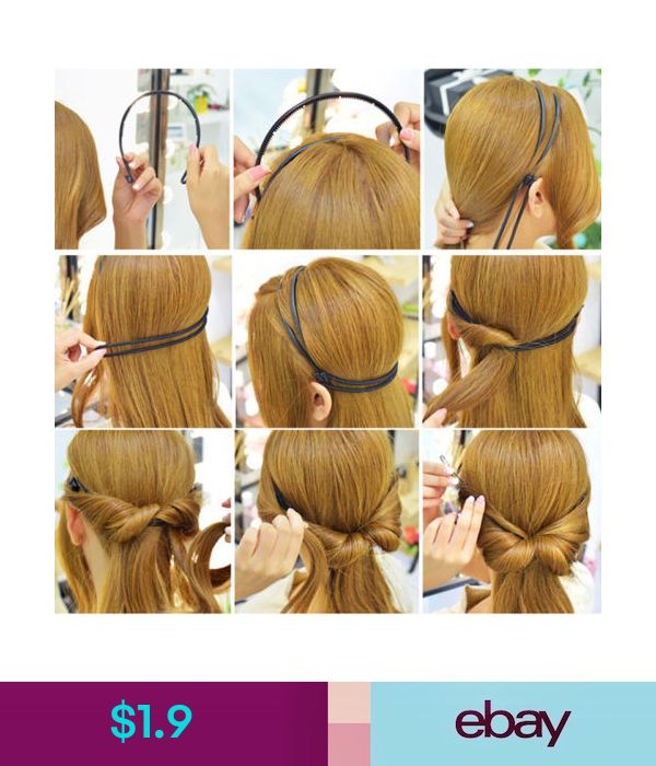 $1.9 – Korean Style Double Layer Adjustable Head Hair Hoop Elastic Hair Rope Hair Band #ebay #Fashion