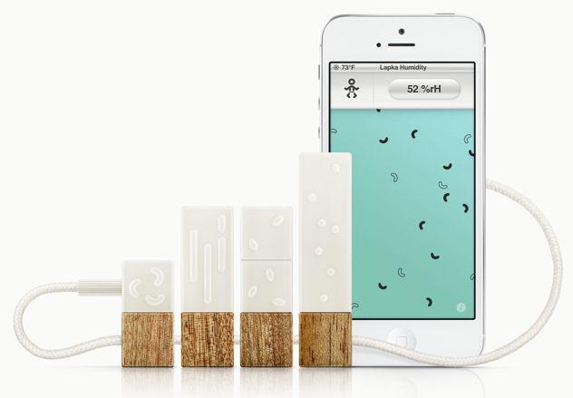 Lapka PEM – Monitor personale dell'ambiente Un laboratorio nel palmo della mano...   Lapka PEM è un piccolo monitor ambientale progettato accuratamente che, connettendosi con il tuo telefono, colleziona ed analizza i dati nascosti che si celano nell'ambiente in cui vivi.  I precisissimi sensori di Lapka captano il mondo invisibile delle particelle, degli ioni, delle molecole e delle onde. Ma Lapka non quantifica ciò che misura e basta. I risultati ottenuti dipen ...