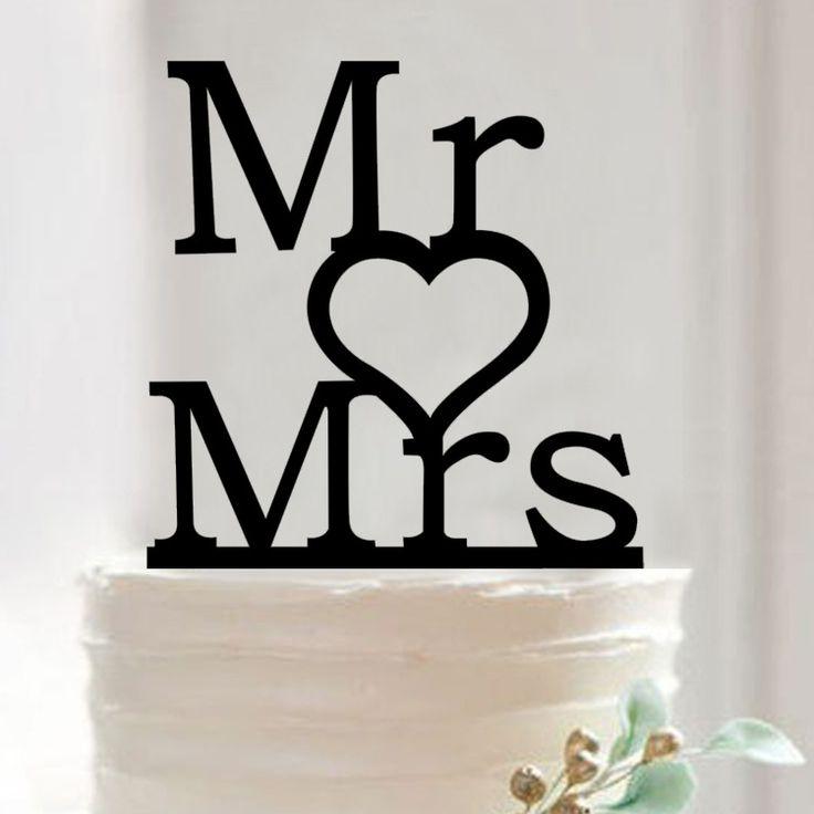 Мистер И Миссис Торт Топпер Акриловые Силуэт Свадебный Торт Топпер Свадебный Торт Топпер Торт Декор Г-Жа & Г-Жа.