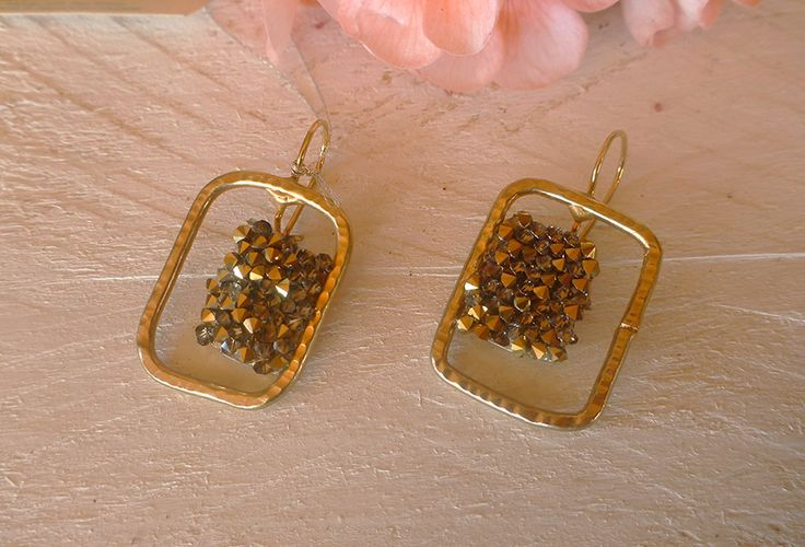 Σκουλαρίκια με κρύσταλλα Swarovski