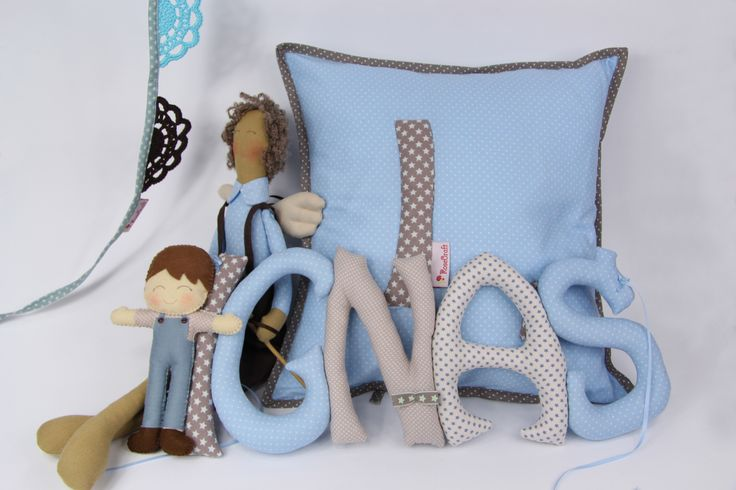 Cute fabric letters