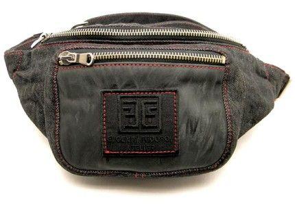 Поясная сумка из черного джинса с кожей уже у нас в магазине.  Надеюсь Вам понравится. :)
