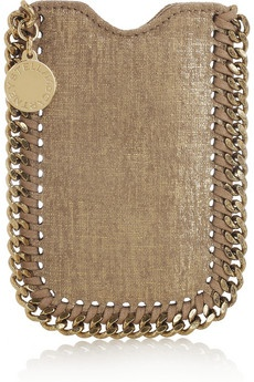 Stella McCartney / Falabella faux brushed-leather iPhone 4 sleeve