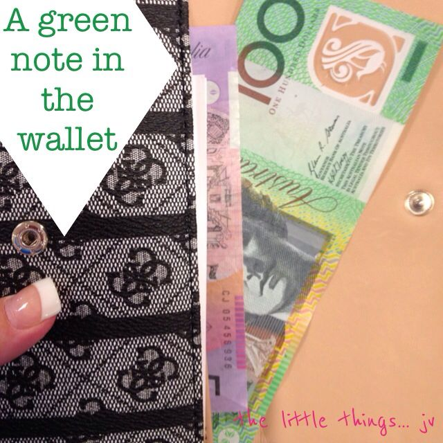it's the little things... like having a green note in your wallet... even if for a minute - joey v