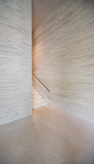 Peter Zumthor Kolumba Museum. The stone is alot for an entire wall but could be…