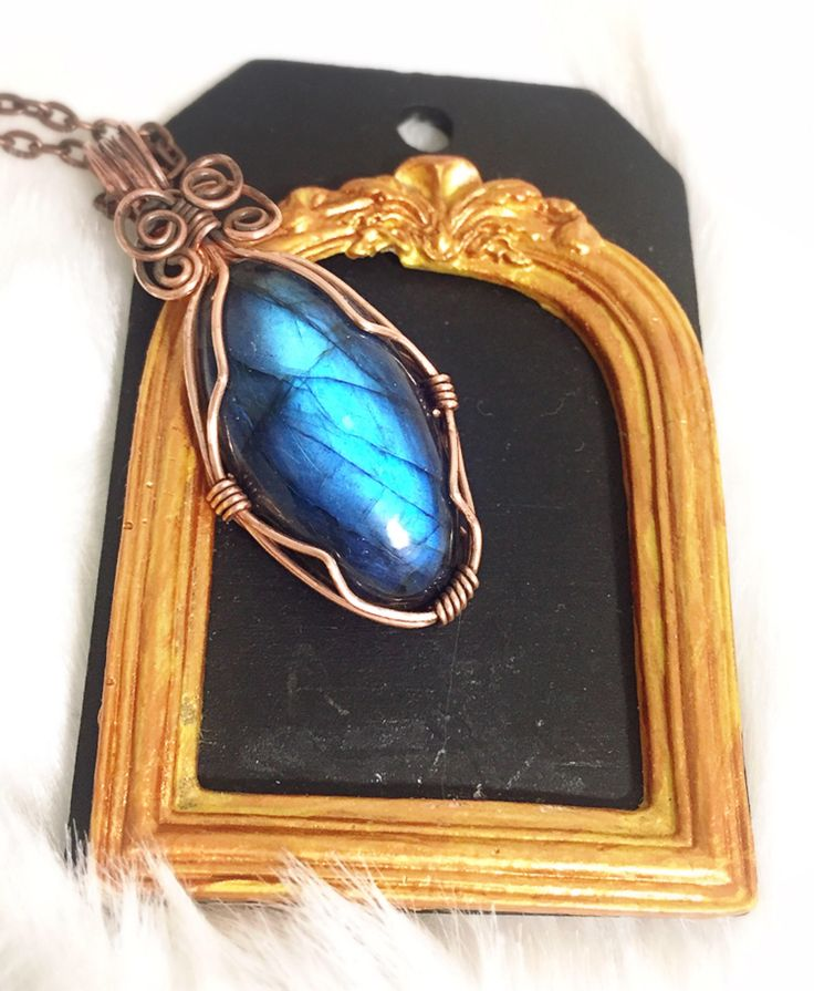 A personal favorite from my Etsy shop https://www.etsy.com/ca/listing/561281167/labradorite-pendant-copper-wire-wrapped