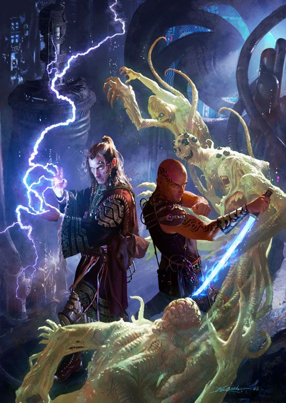 Street Magic, Cover art for the Shadowrun supplement Street Magic, Michael Komarck Illustration