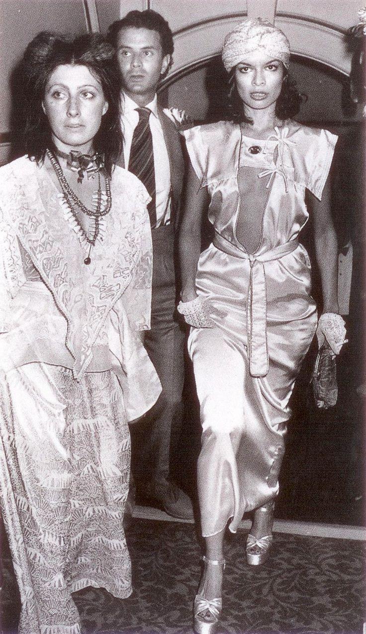 Bianca Jagger and Zandra Rhodes at Studio 64