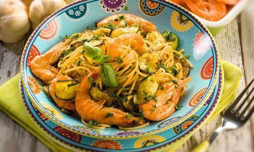 Pasta & shrimps