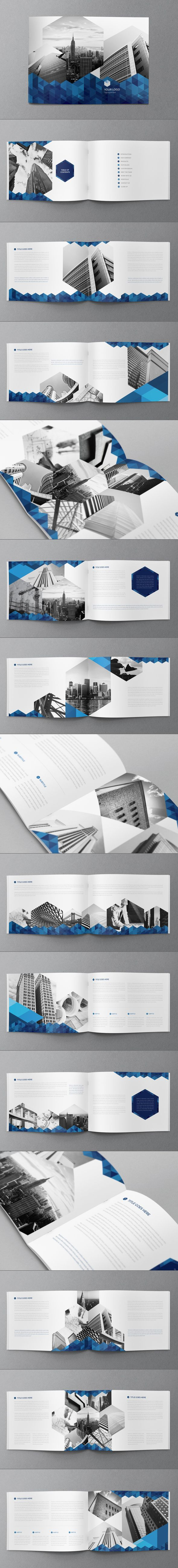 Blue Hexo Brochure by Abra Design, via Behance