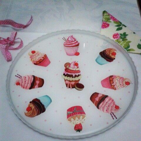 Cam servis tabağı boyama,  painting glass plate