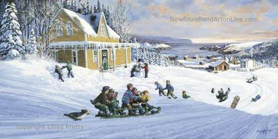 "Newfoundland Art - Lloyd Pretty...""The Old Handcat"""