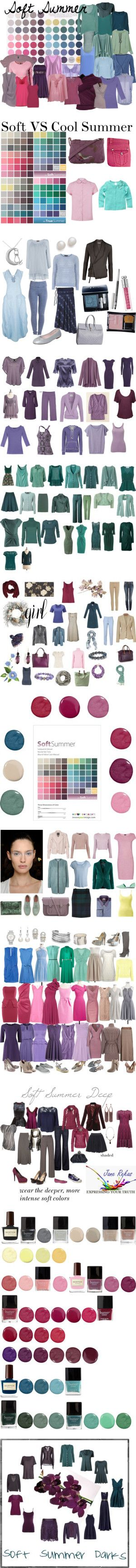 Soft Summer - The Colors by lovelyemma12 on Polyvore featuring beauty, Jean…