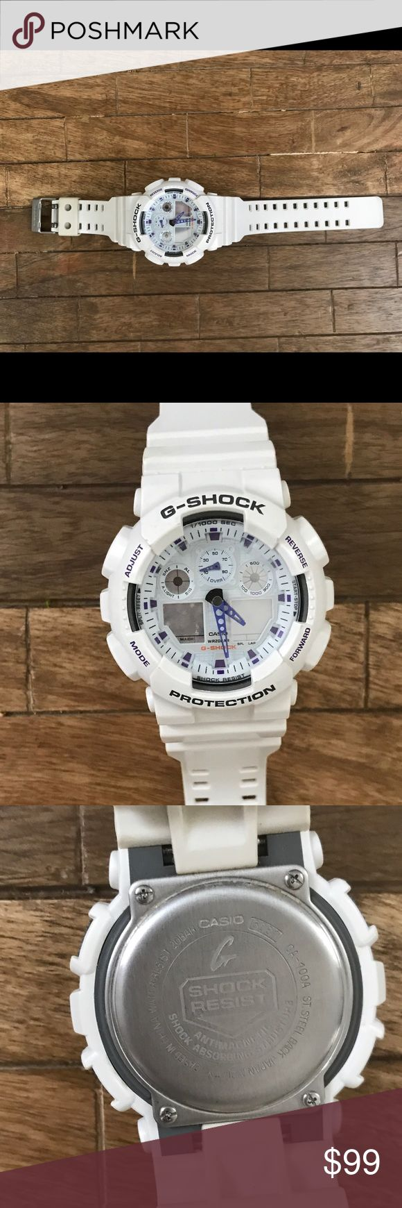 Men's G SHOCK watch Fully functioning white G SHOCK watch! White is still very white/not discolored.. overall great condition Accessories Watches