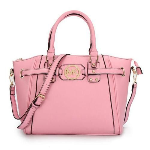 Michael Kors Pebbled Leather Large Pink Satchels Are High Quality And Cheap Price!