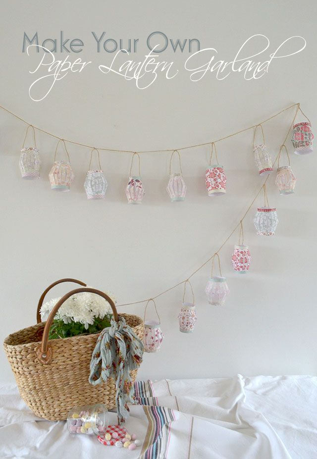 Craft Time: DIY Paper Lantern Garland | Appliances Online @ Home.  Such a simply, easy idea.... Why didn't I think of this.