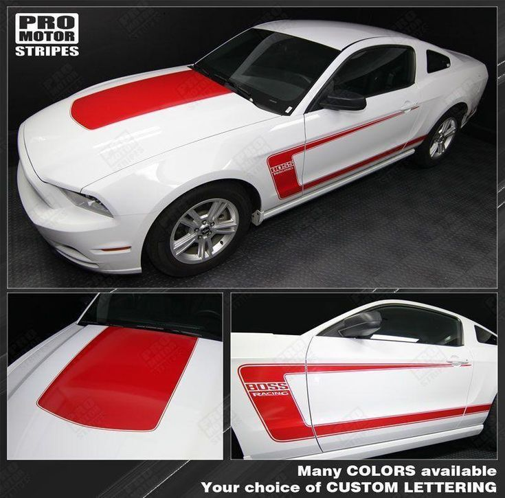 Ford Mustang 2010-2014 BOSS 302 Style Hood & Side Stripes