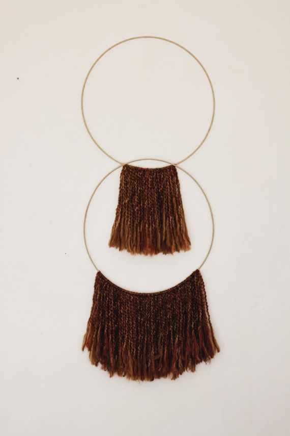 Fiber Art Hoop Wall Hanging