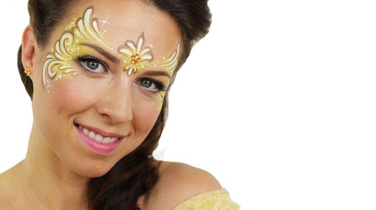 Belle | Disney Princess Face Painting Tutorial