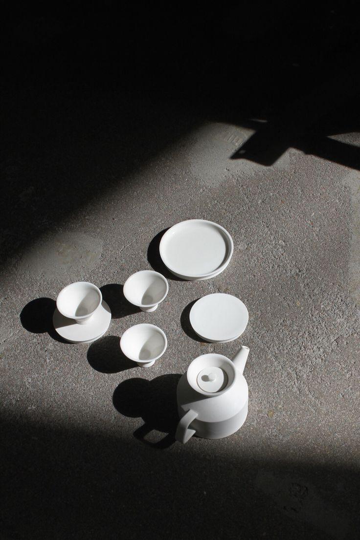teapot, tea set, Minjia's tea set ceramic work 2015