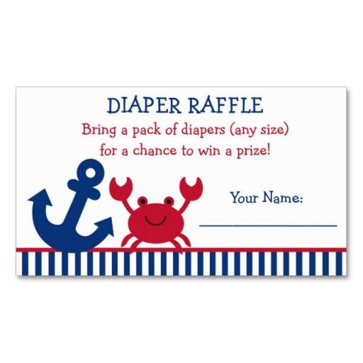 Best Baby Raffle Ticket Images On   Business Cards
