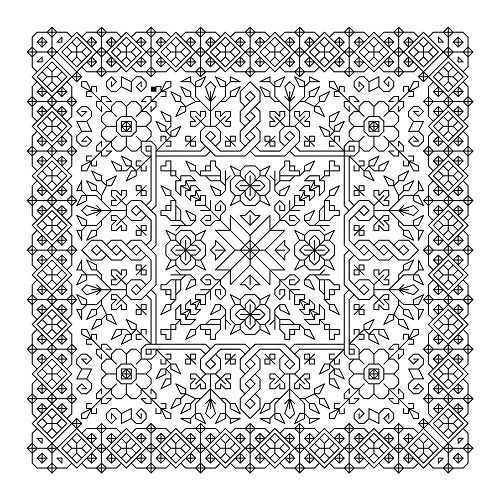 Printable blackwork cross stitch patterns >> If you use a black pen, even…