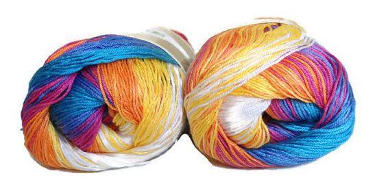 Alize Diva multicolor yarn  Microfiber acrylic  by Yarnshopping